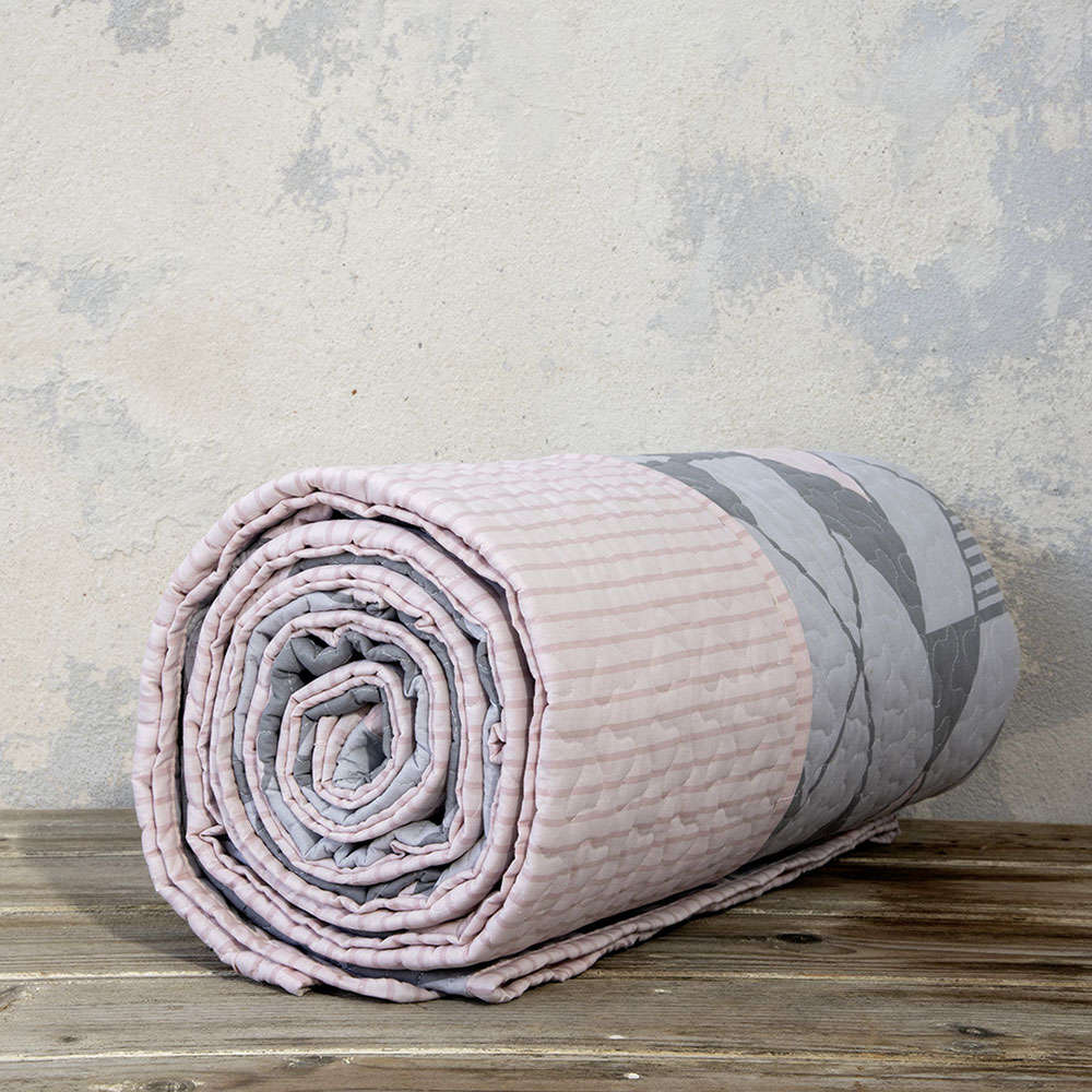 Κουβερλί Μονό – Jazzy Grey-Pink Nima Μονό 160x240cm