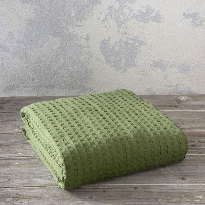 Κουβέρτα Habit Olive Nima Υπέρδιπλo 220x240cm