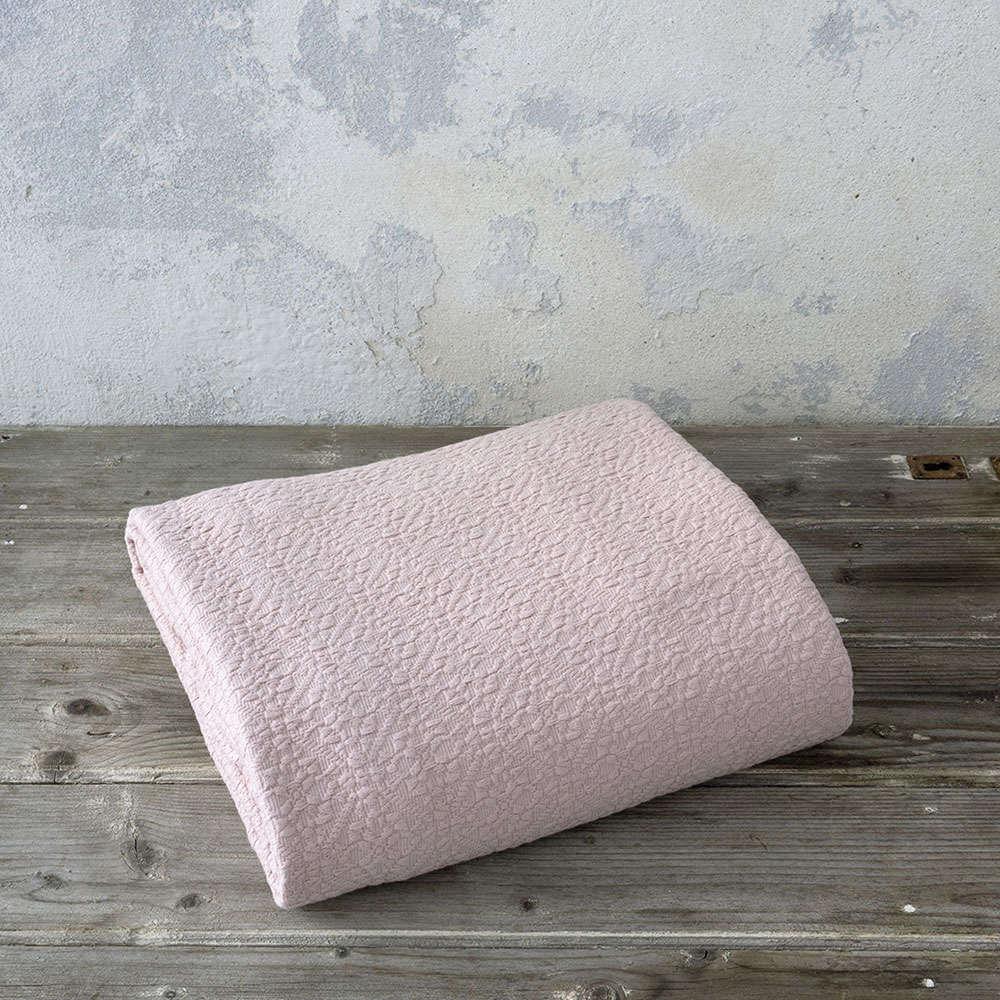 Κουβέρτα Skylar Powder Pink Nima Υπέρδιπλo 230x260cm