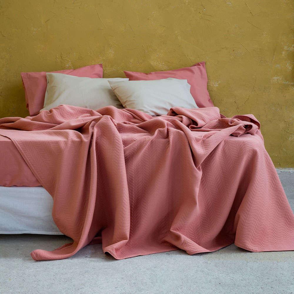 Κουβέρτα Virve Terracotta Nima Υπέρδιπλo 230x260cm