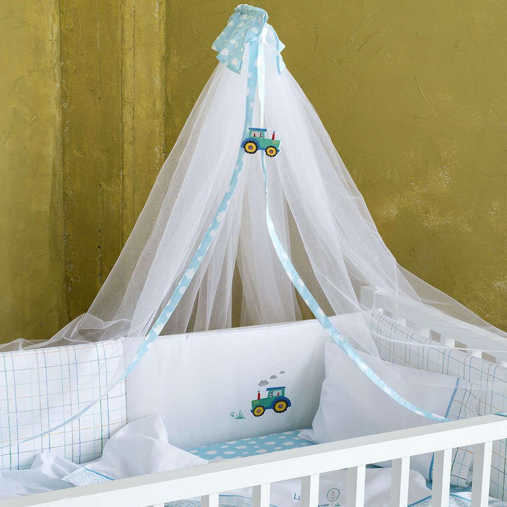 Κουνουπιέρα Με Απλικέ – Little Farm White-Blue Nima 200x600cm