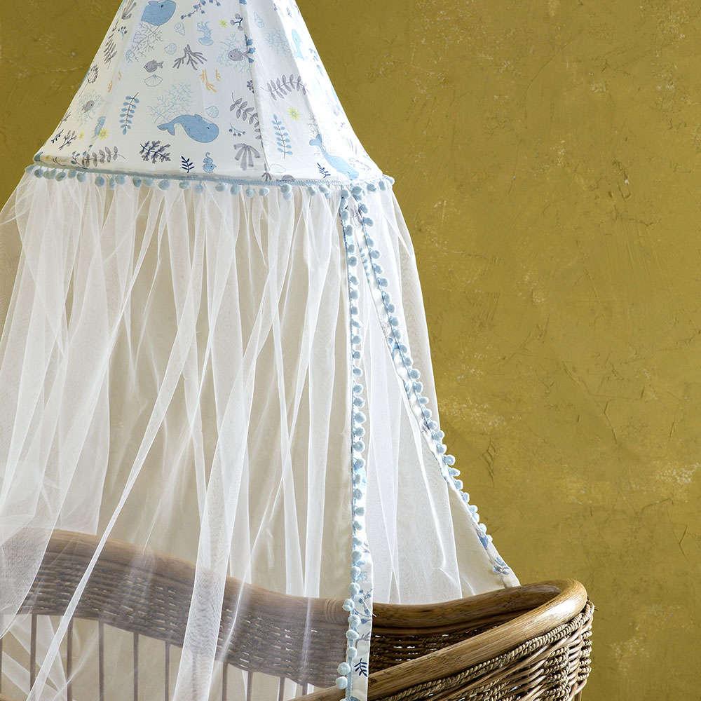 Κουνουπιέρα Με Θόλο – Baleen White-Blue Nima 200x600cm