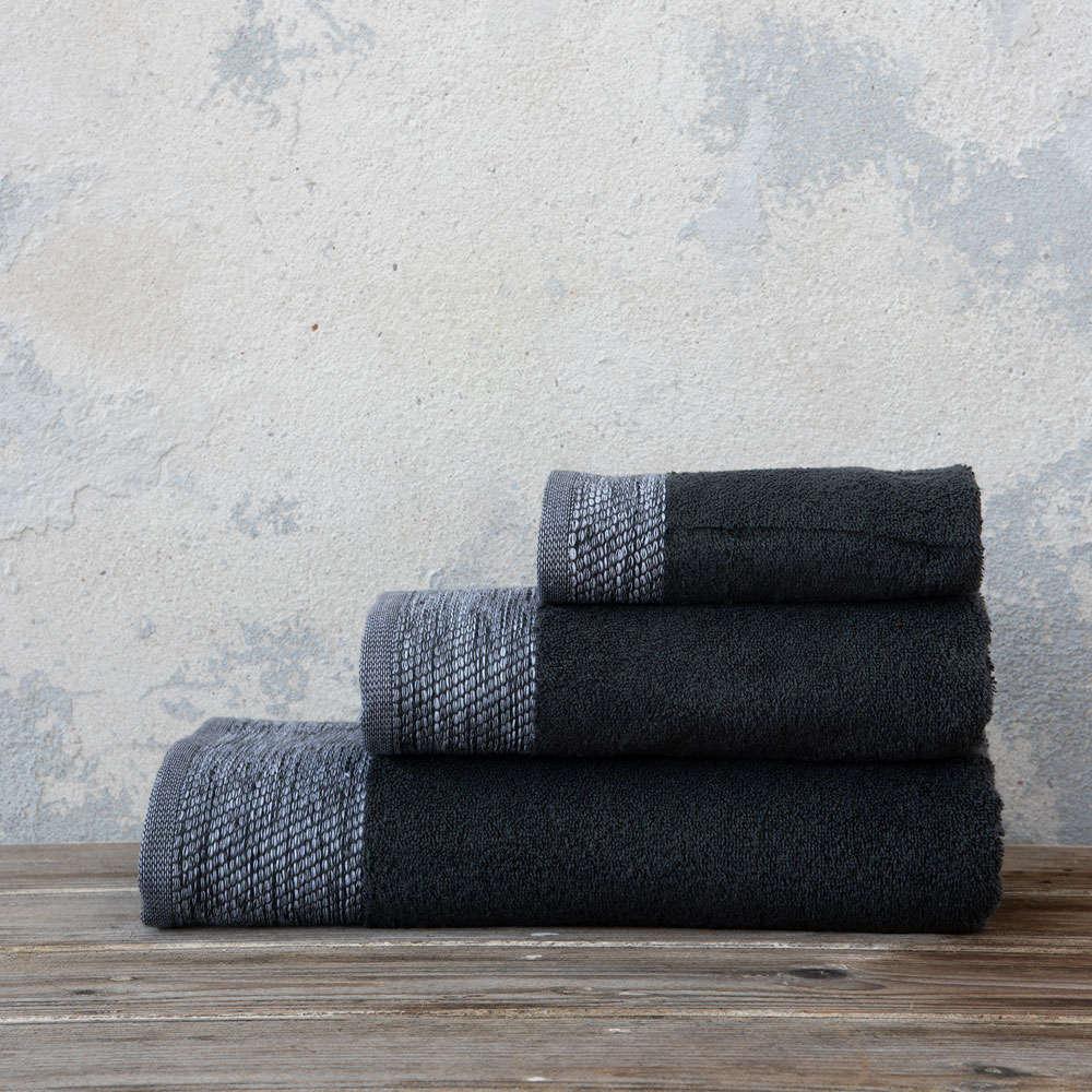 Πετσέτα Luzon Dark Gray Nima Σώματος 70x140cm