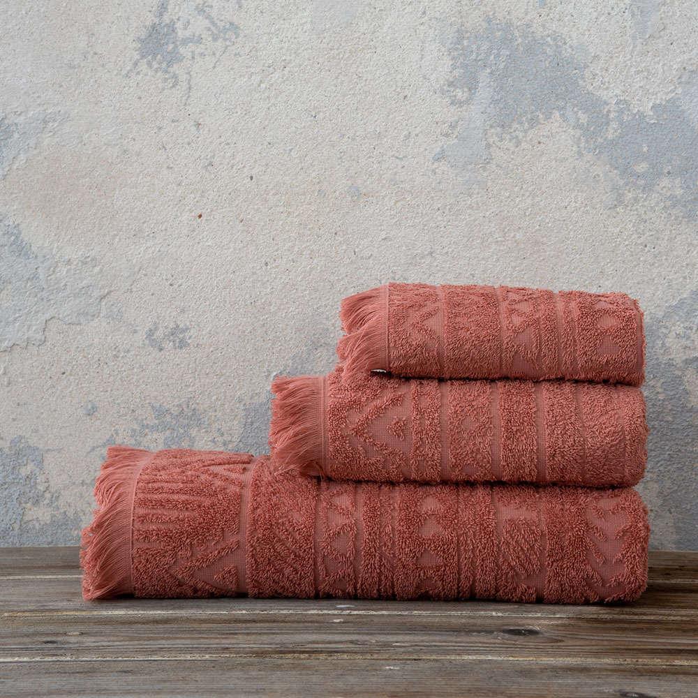 Πετσέτα Mindelo Terracotta Nima Προσώπου 50x90cm