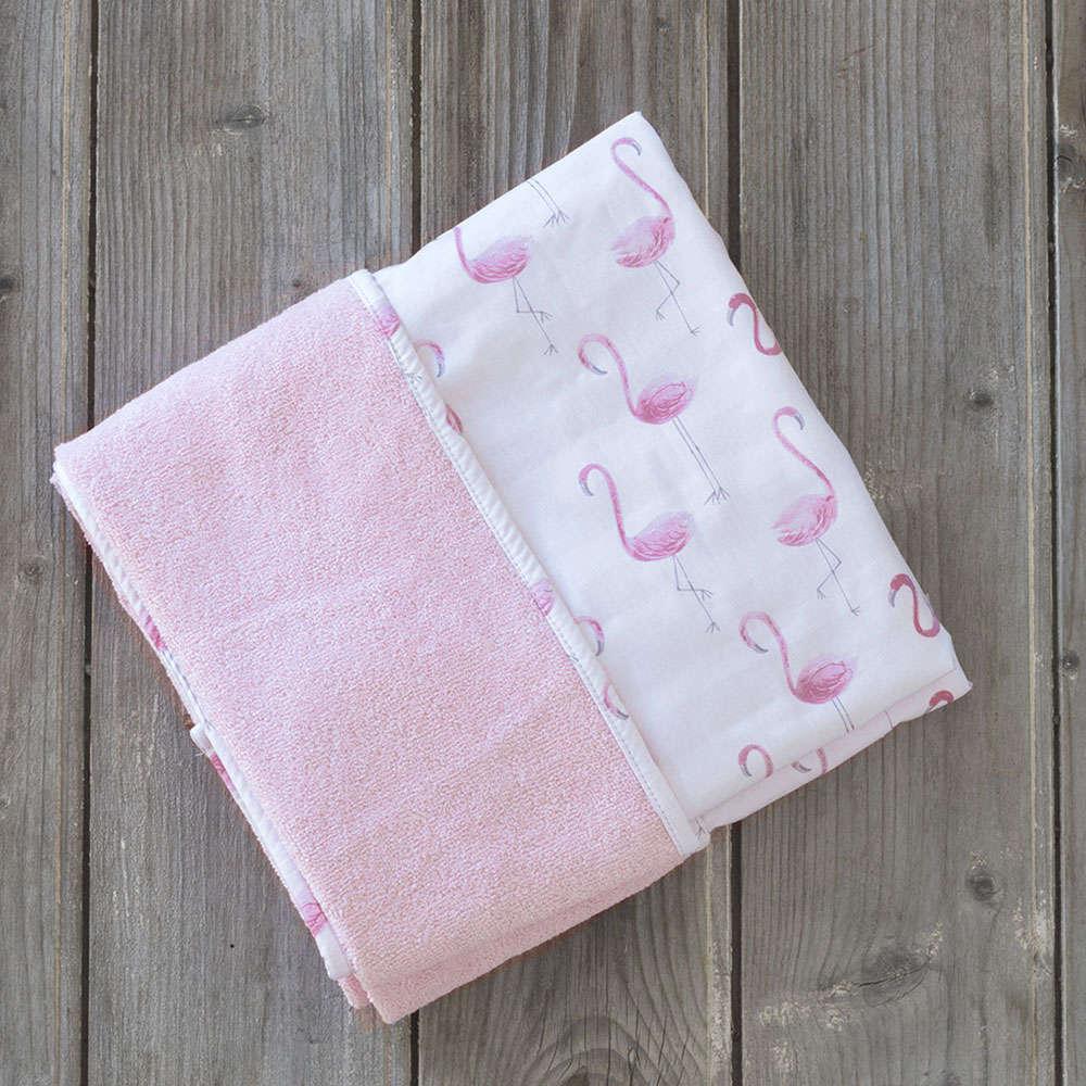 Πετσέτα Θαλάσσης Παιδική Δύο Όψεων – Flamingo Love Pink Nima Θαλάσσης 75x150cm