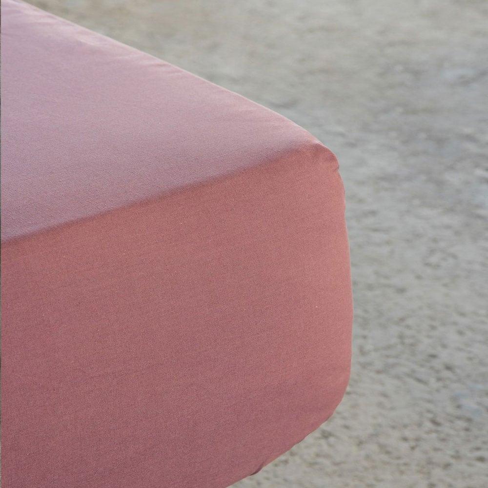 Σεντόνι Με Λάστιχο Superior Satin Terracotta Nima King Size 180x234cm