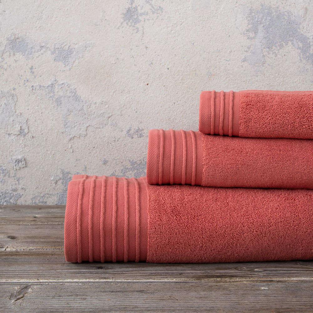 Πετσέτες Σετ 3τμχ Feel Fresh – Terracotta Nima Σετ Πετσέτες