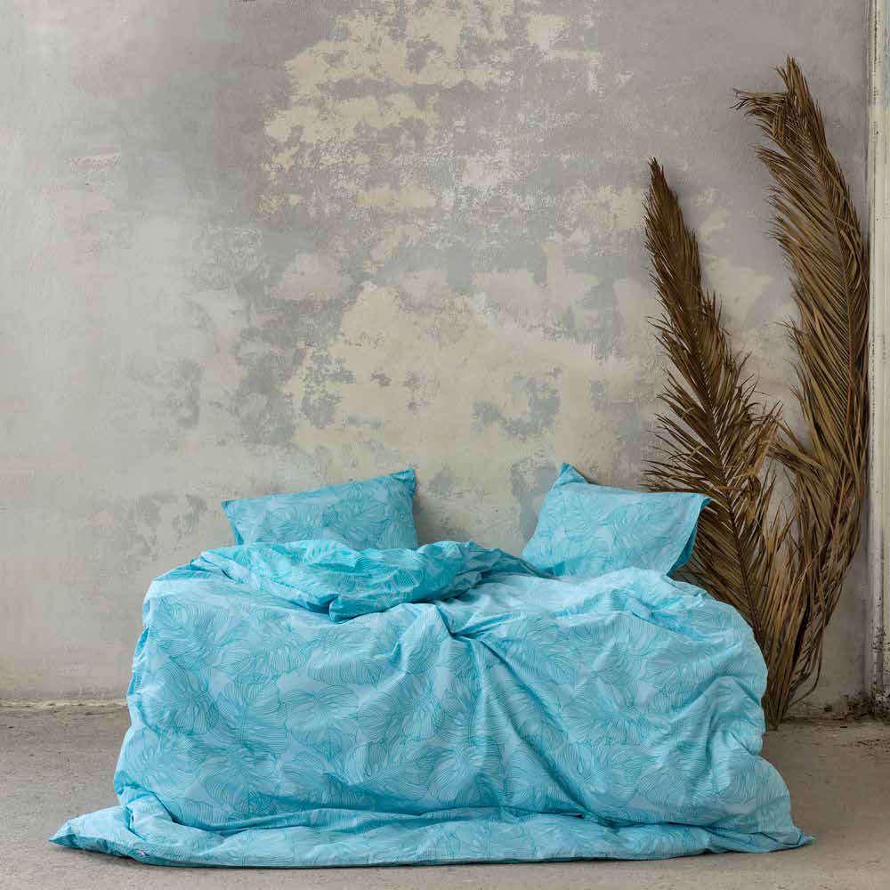 Σεντόνια Σετ Με Λάστιχο 4τμχ – Avant Garde Blue Nima King Size 180x232cm