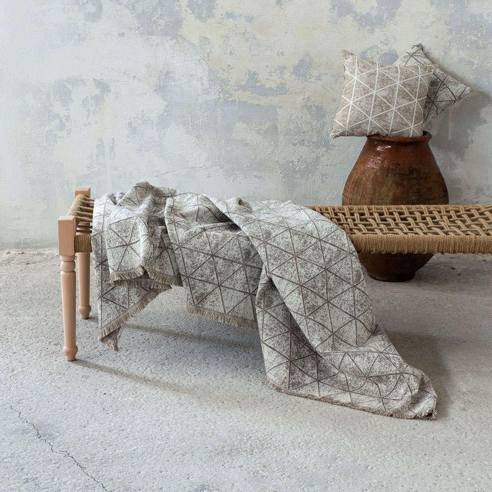 Διακοσμητικό Μαξιλάρι (Με Γέμιση) – Swank Taupe Nima 45X45 Βαμβάκι-Polyester
