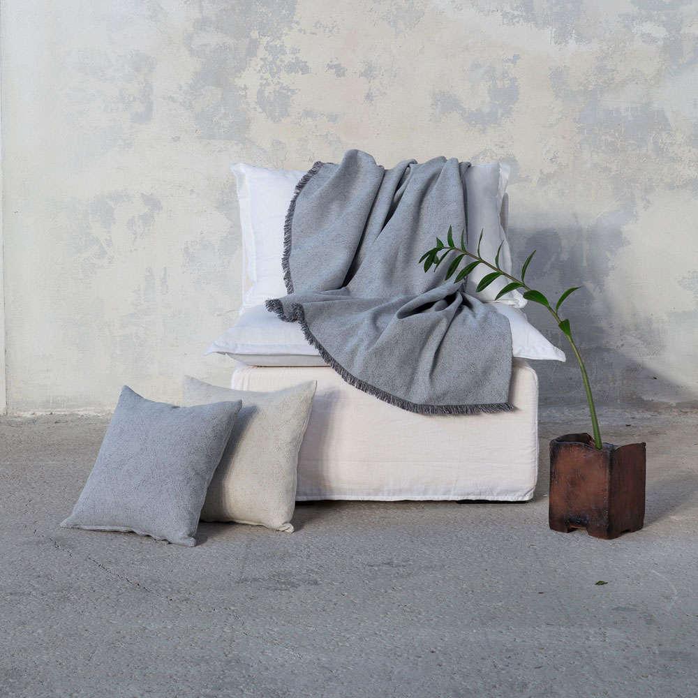 Διακοσμητικό Μαξιλάρι (Με Γέμιση) – Vague Gray Nima 45X45 Βαμβάκι-Polyester