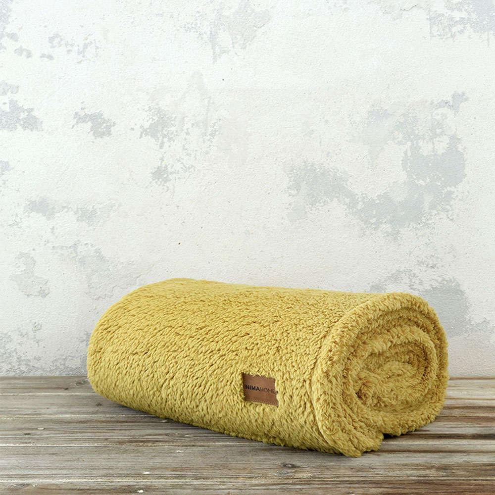 Κουβέρτα Καναπέ – Manta Mustard Beige Nima 150X180 130x170cm
