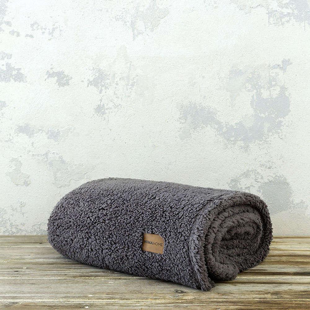 Κουβέρτα Manta – Dark Grey Nima Μονό 150x220cm