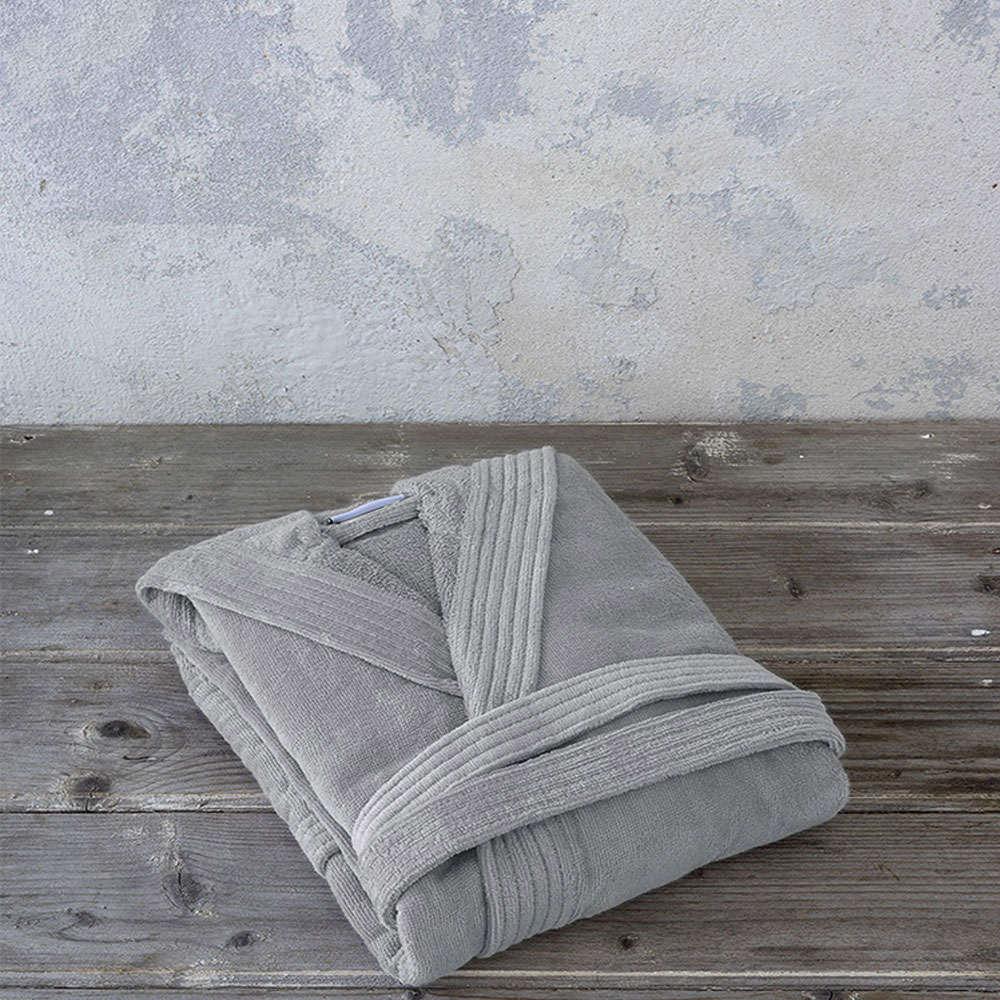 Μπουρνούζι Zen Σε Κουτί Με Κουκούλα – Silver Grey Nima Large L