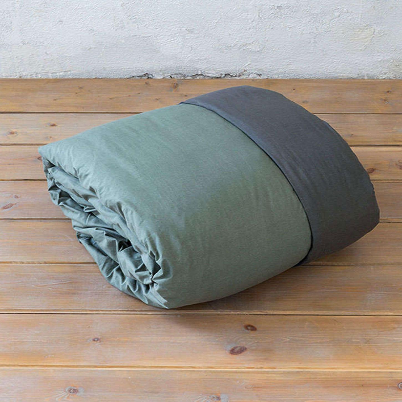 Παπλωματοθήκη Colors – Sage Green-Anthracite Nima King Size 240x260cm