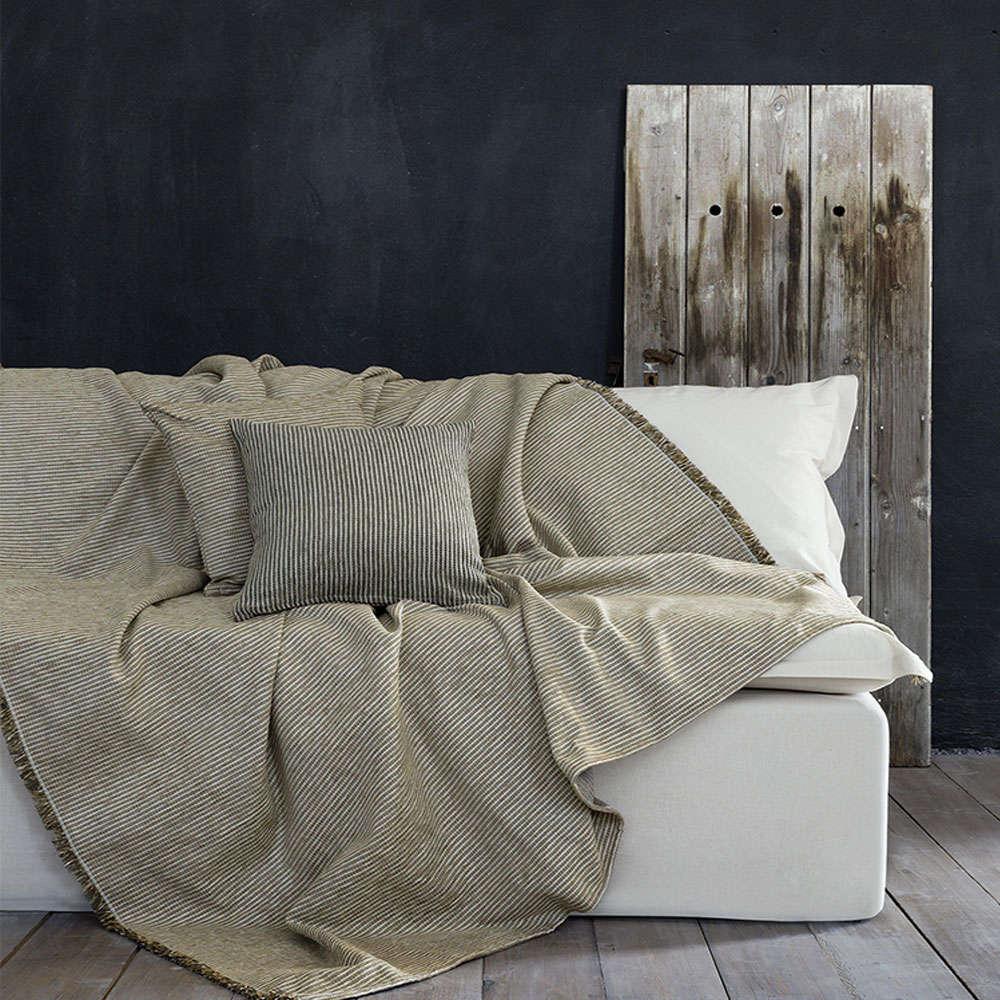 Ριχτάρι Seporo Mustard Beige Nima Τετραθέσιο 180x350cm