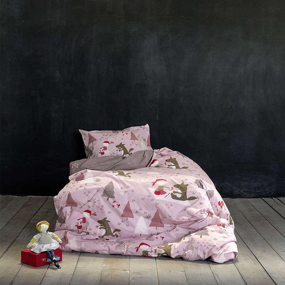 Παπλωματοθήκη Παιδική Σετ 2τμχ – Little Red Riding Hood Pink Nima Μονό 160x240cm