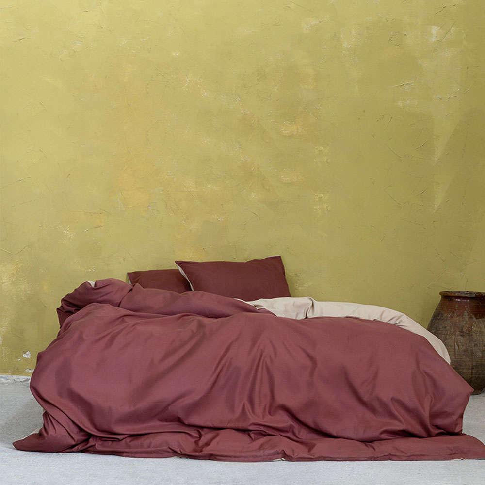 Παπλωματοθήκη Σετ 3τμχ Abalone – Terracotta-Beige Nima Υπέρδιπλo 220x240cm