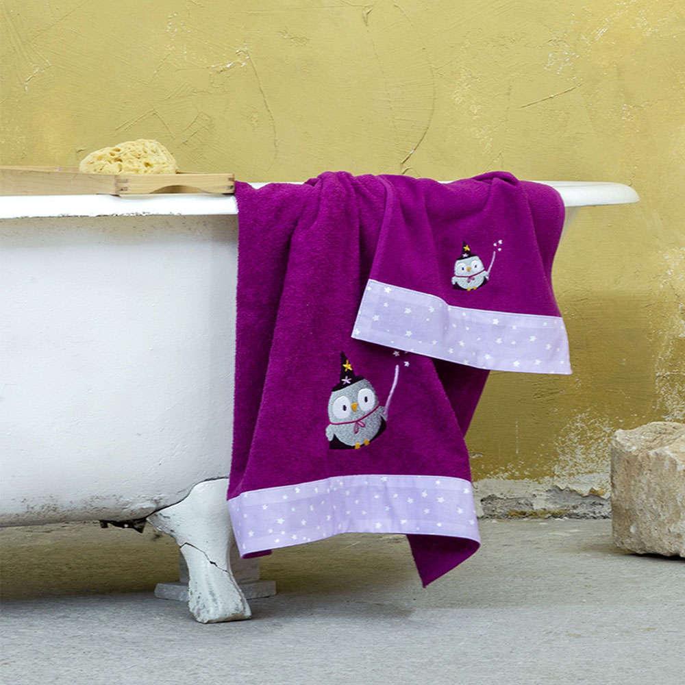 Πετσέτες Παιδικές Σετ 2τμχ – Abracadabra Purple Nima Σετ Πετσέτες 70x140cm