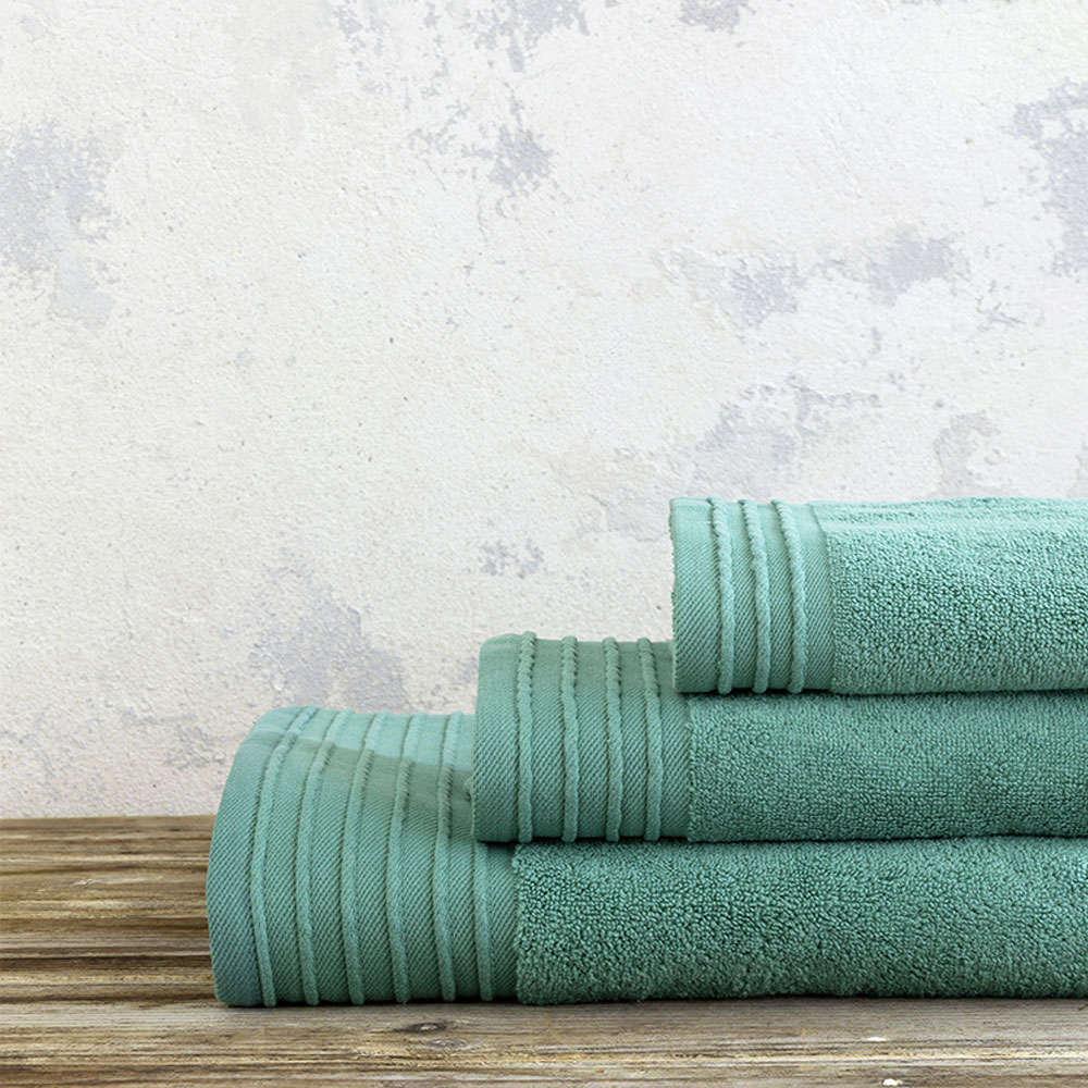 Πετσέτες Σετ 3τμχ Feel Fresh – Pine Green Nima Σετ Πετσέτες 90x145cm