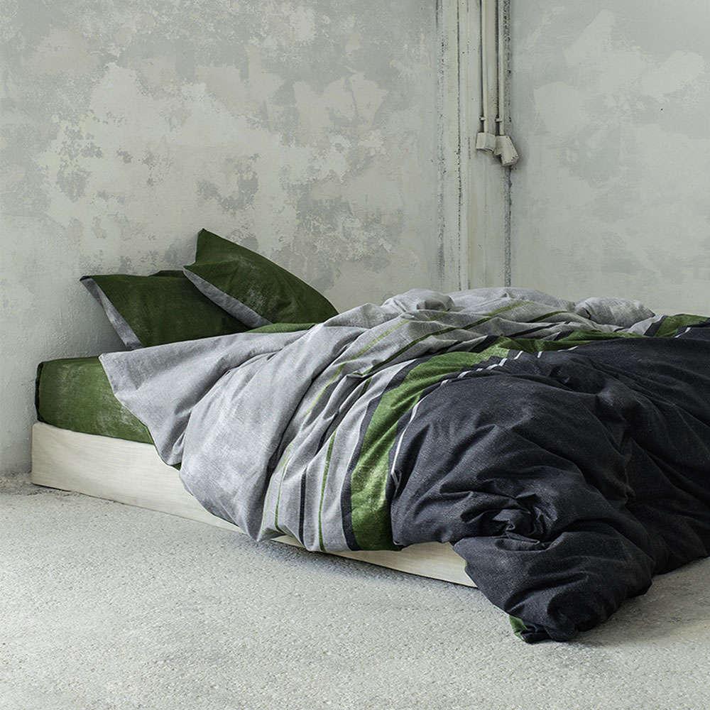 Σεντόνια Σετ 4τμχ – Pivot Grey-Green Nima Μονό 170x260cm