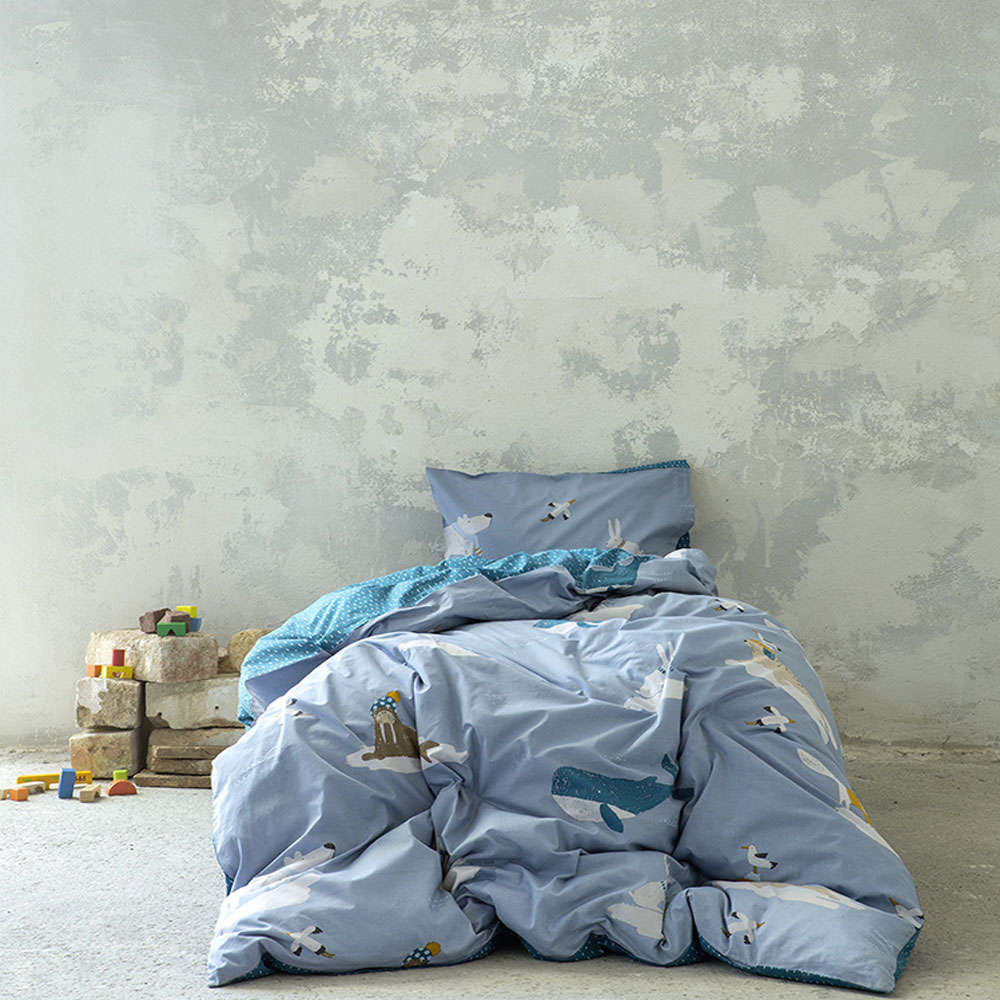 Σεντόνια Παιδικά Σετ 2τμχ – Arctic Blue Nima Μονό 170x255cm