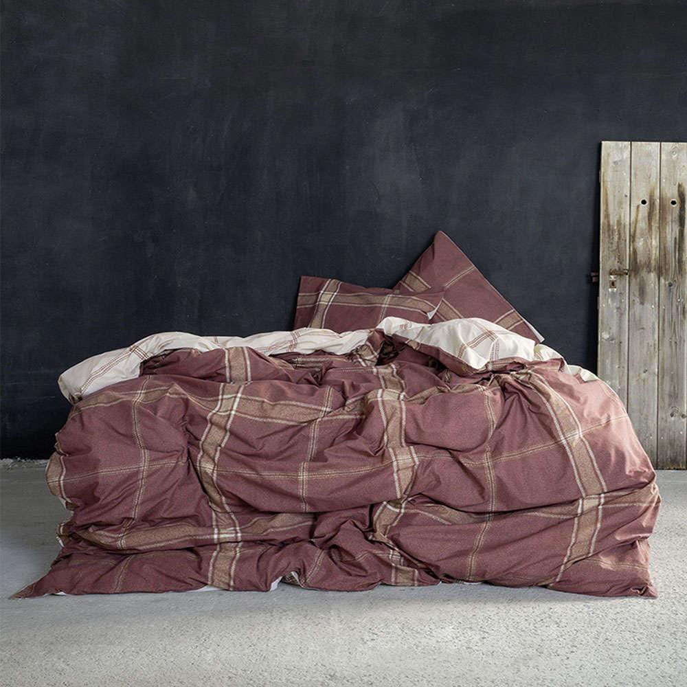 Σεντόνια Σετ 4τμχ Με Λάστιχο – Apparel Terracotta Nima Υπέρδιπλo 160x240cm