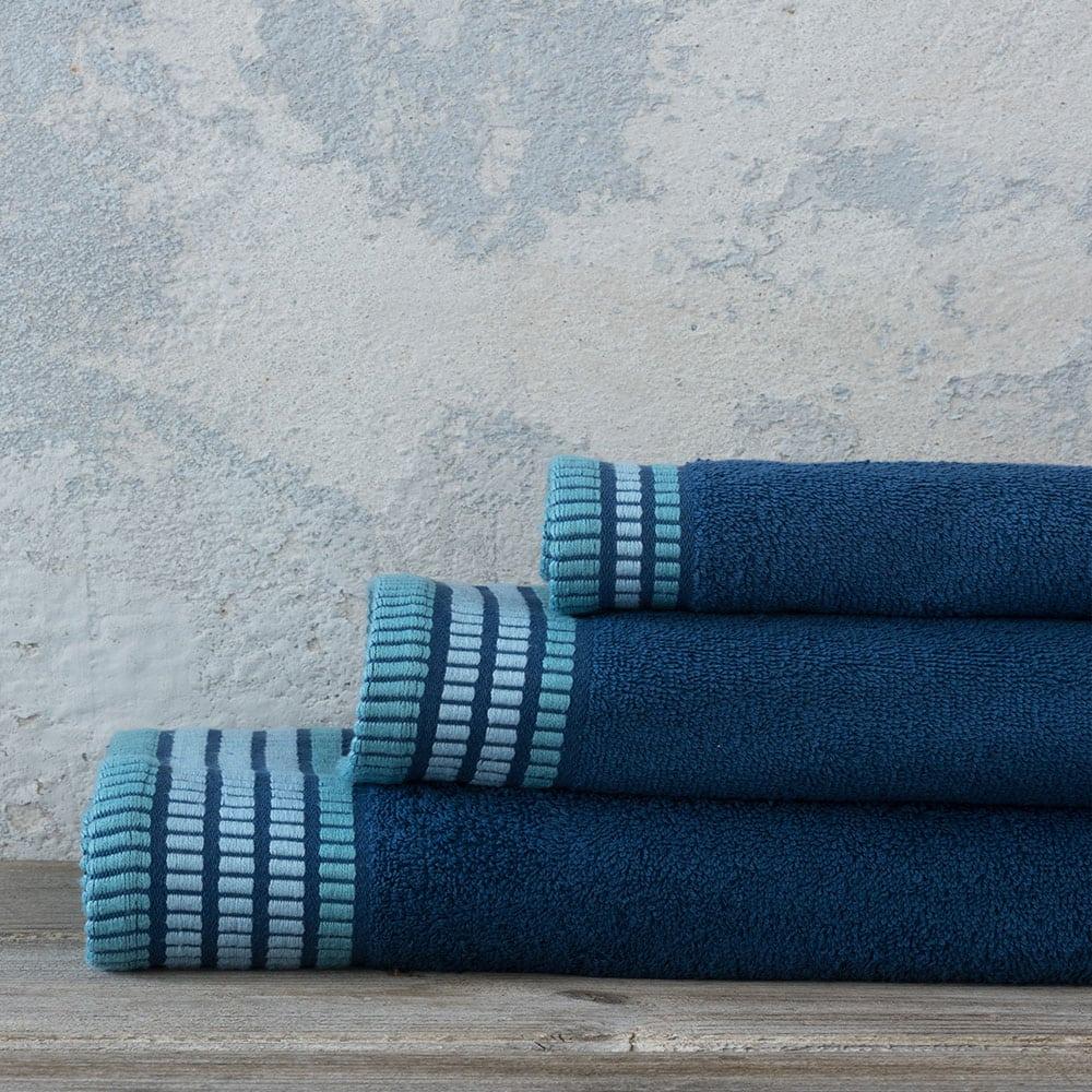 Πετσέτες Σετ 3τμχ Siren – Ocean Blue Nima Σετ Πετσέτες