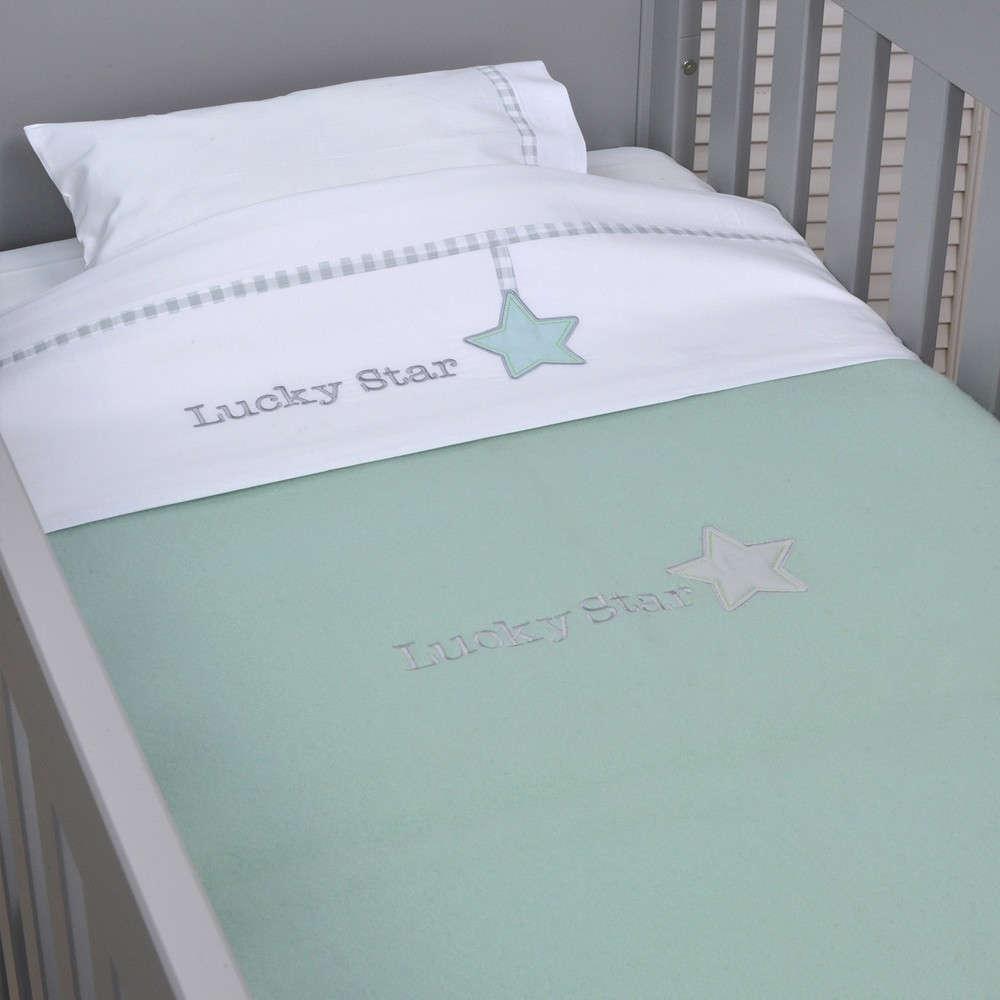 Κουβέρτα Βρεφική Κούνιας Σχ. 304 Lucky Star Mint Baby Oliver Κούνιας 110x150cm