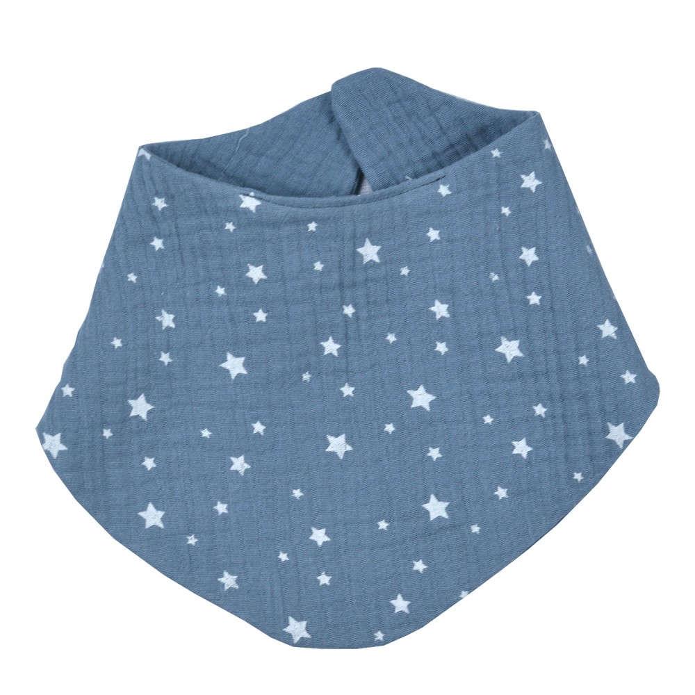 Σαλιάρα Βρεφική Μπαντάνα Σχ. 374 Muslin Blue Baby Oliver 30x30cm