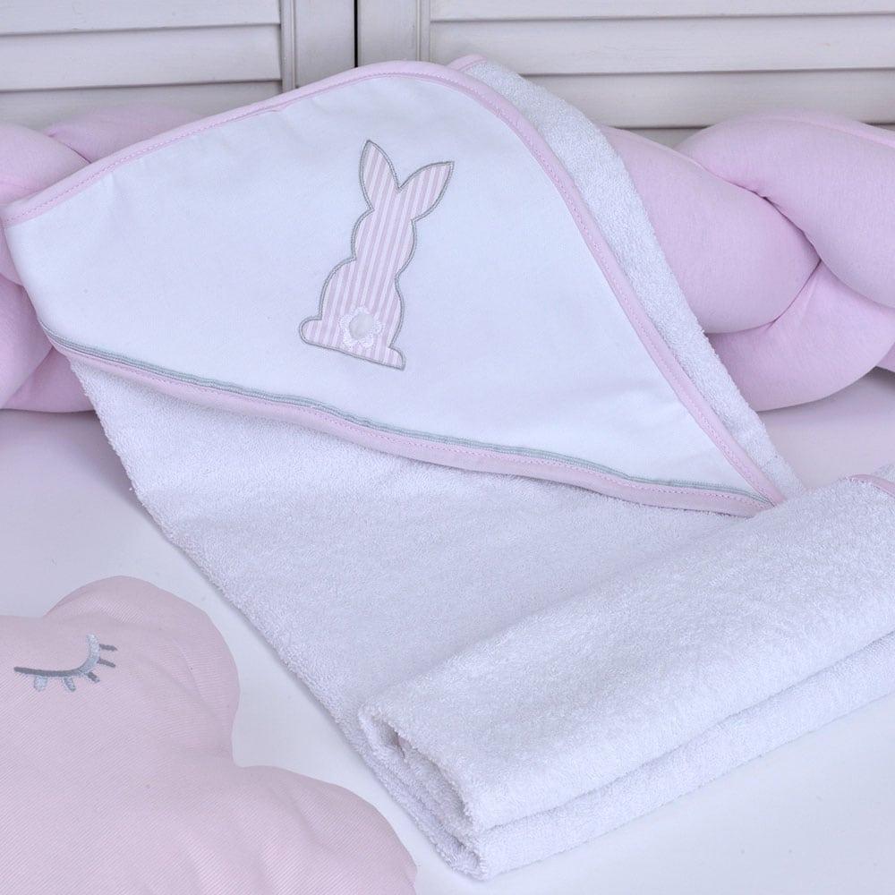 Κάπα Βρεφική Des: 357-Bunny White-Pink Baby Oliver 0-2 ετών One Size