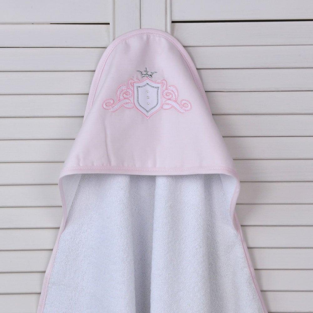 Κάπα Βρεφική Des: 382-Satin White-Pink Baby Oliver 0-2 ετών One Size