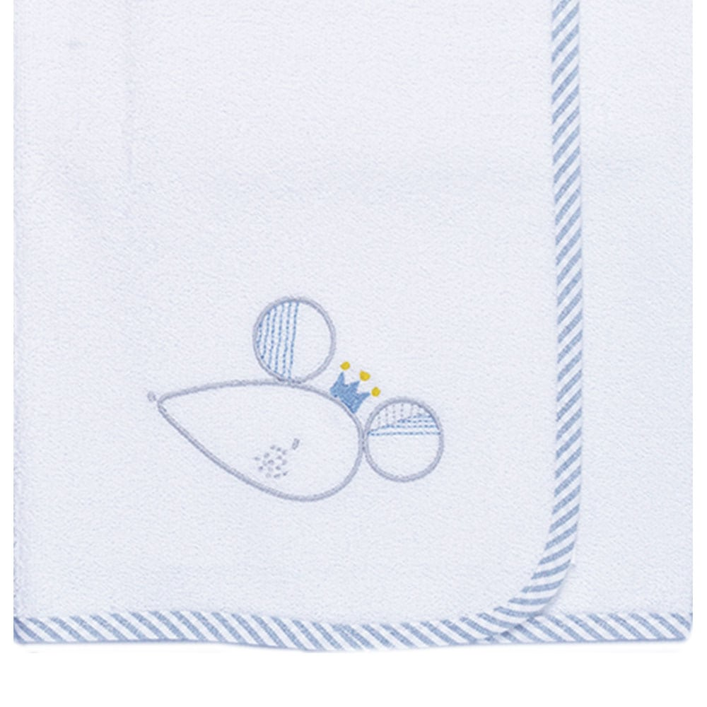 Σελτεδάκι Βρεφικό Des: 351-Sleepy Mouse White-Blue Baby Oliver 50x70cm