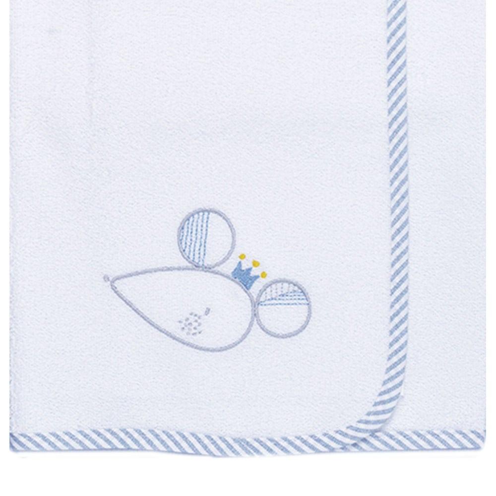 Σελτεδάκι Βρεφικό Des: 351-Sleepy Mouse White-Blue Baby Oliver 50x70cm