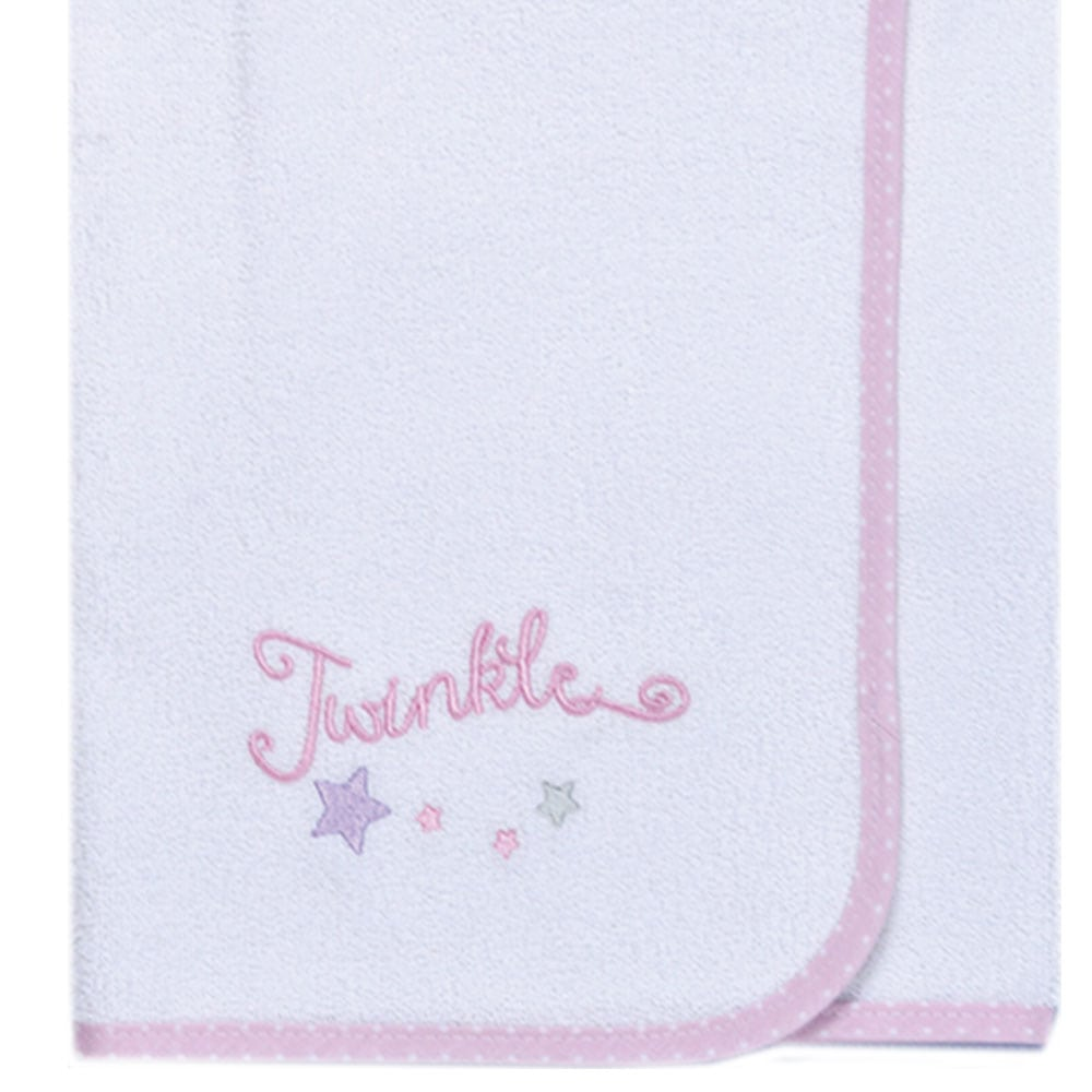 Σελτεδάκι Βρεφικό Des: 352-Twinkle Twinkle White-Pink Baby Oliver 50x70cm