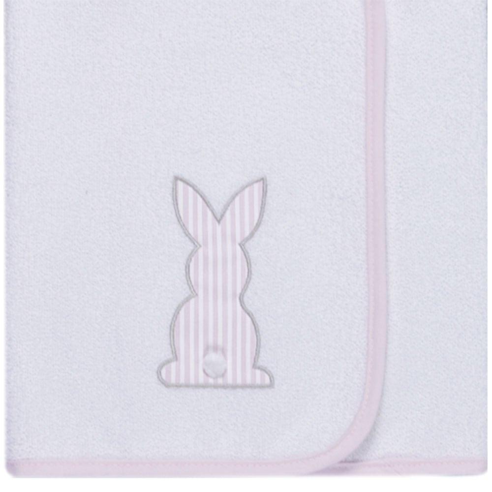 Σελτεδάκι Βρεφικό Des: 357-Bunny White-Pink Baby Oliver 50x70cm