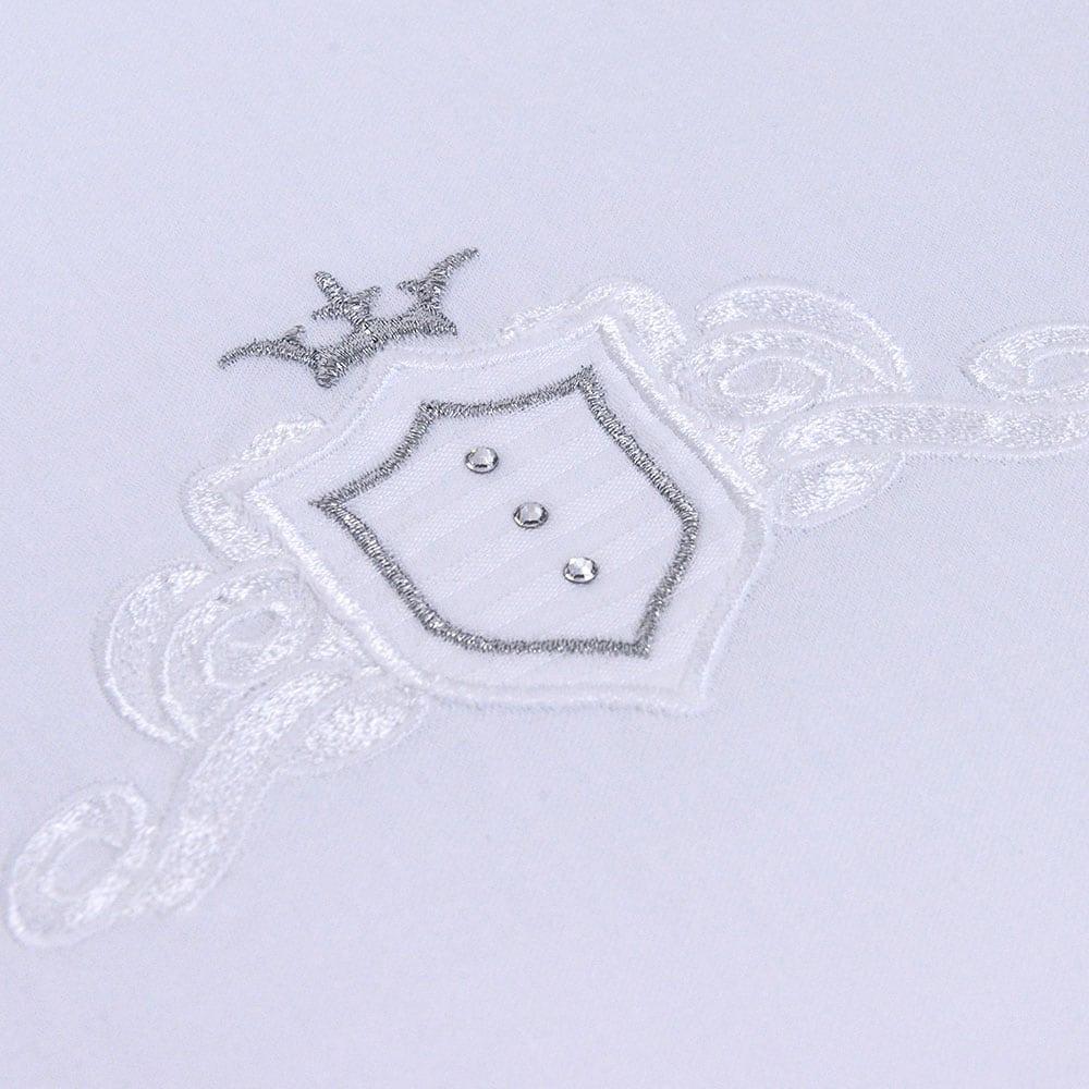 Σεντόνι Βρεφικό Σετ 3Τμχ Des: 380-Satin White-Grey Baby Oliver Κούνιας 110x165cm