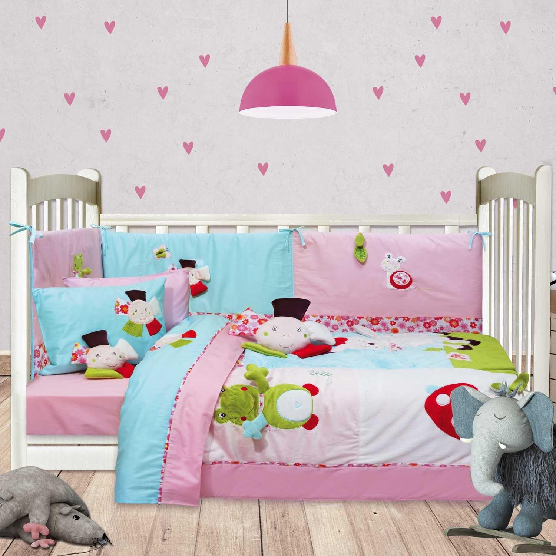 Πάντα Κούνιας 6396 Baby Dream Emdroidery Mint-MultiDas Baby 95x145cm
