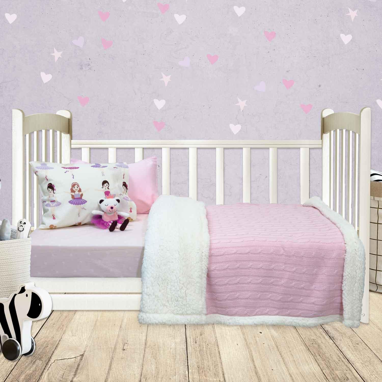 Κουβέρτα Βρεφική 6411 Relax Pink Das Baby Αγκαλιάς 80x110cm