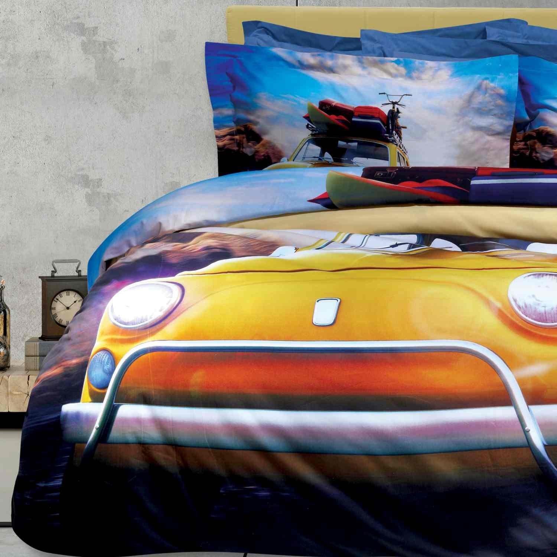 Σεντόνια Σετ 4Τμχ. Prestige 1568 Beige-Yellow Das Home Υπέρδιπλo 240x260cm
