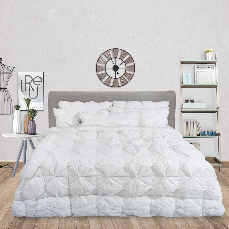 Πάπλωμα Trendy 3D 1035 White Das Home Υπέρδιπλo 220x240cm