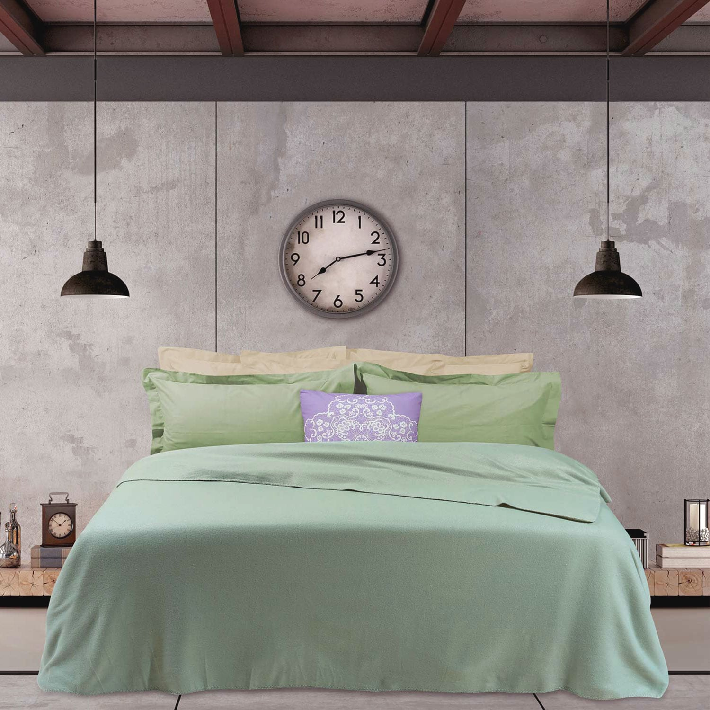 Κουβέρτα Fleece 367 Mint Das Home Υπέρδιπλo 220x240cm