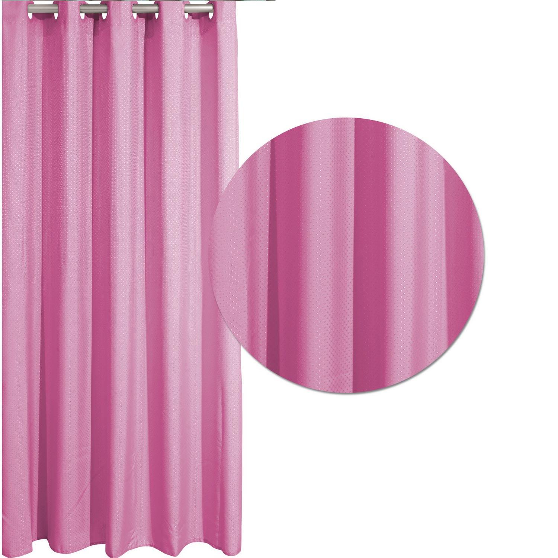 Κουρτίνα Μπάνιου 1074 Pink Das Home 180χ200 Φάρδος 180cm 180x200cm
