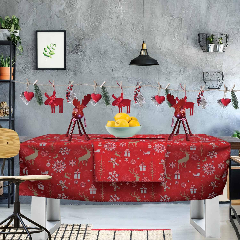 Τραπεζομάντηλο Christmas Kitchen 549 Red-Beige Das Home 150X150
