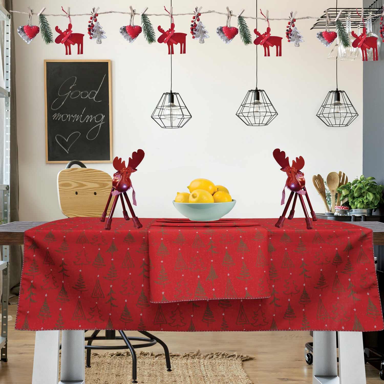 Τραπεζομάντηλο Christmas Kitchen 550 Red-Green Das Home 150X150