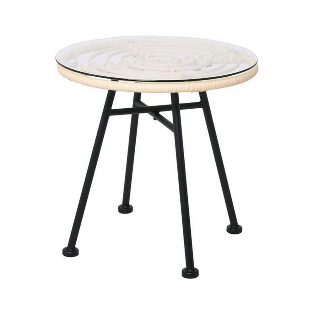 Τραπέζι Salsa Black/Ivory Ε261,Τ D.48x48cm