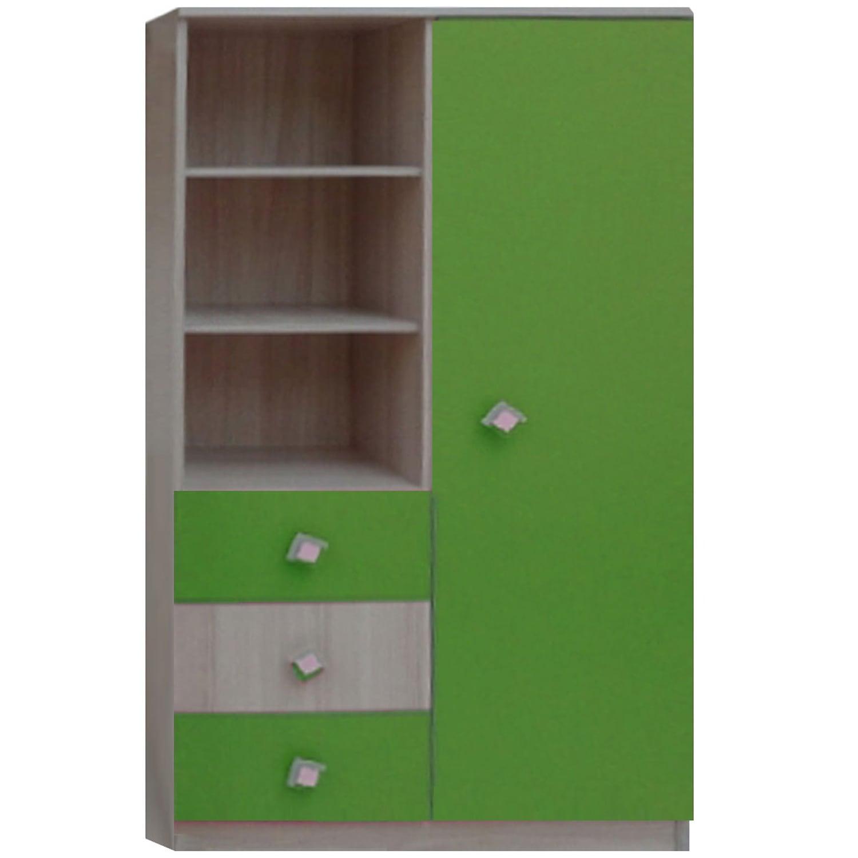 Βιβλιοθήκη Παιδική Play Φυσικό-Λαχανί 80X40X160 cm