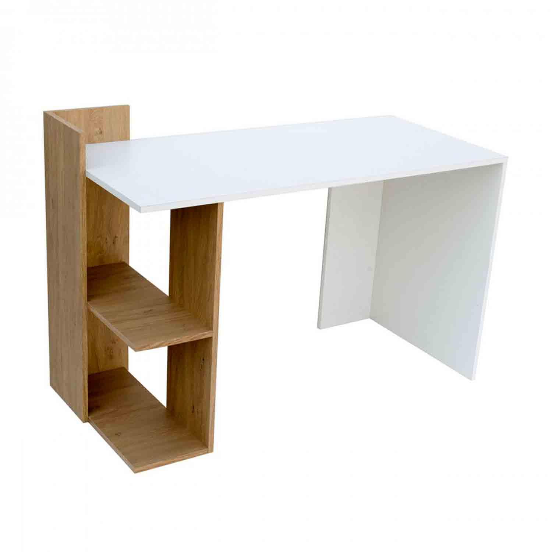 Γραφείο Λευκό-Φυσικό 120X55X85 cm TO-DESKHOSHELF