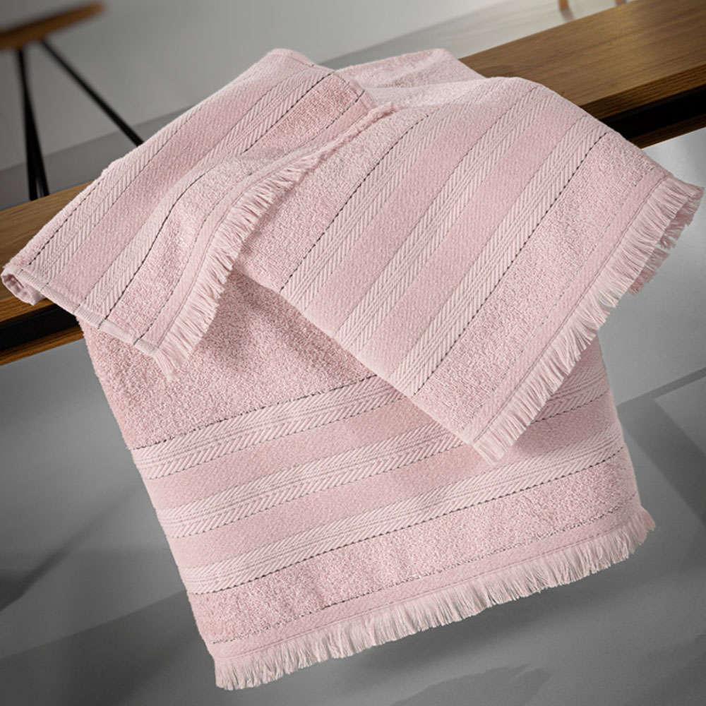 Πετσέτες Σετ 3τμχ Massimo Dusty Pink Guy Laroche Σετ Πετσέτες