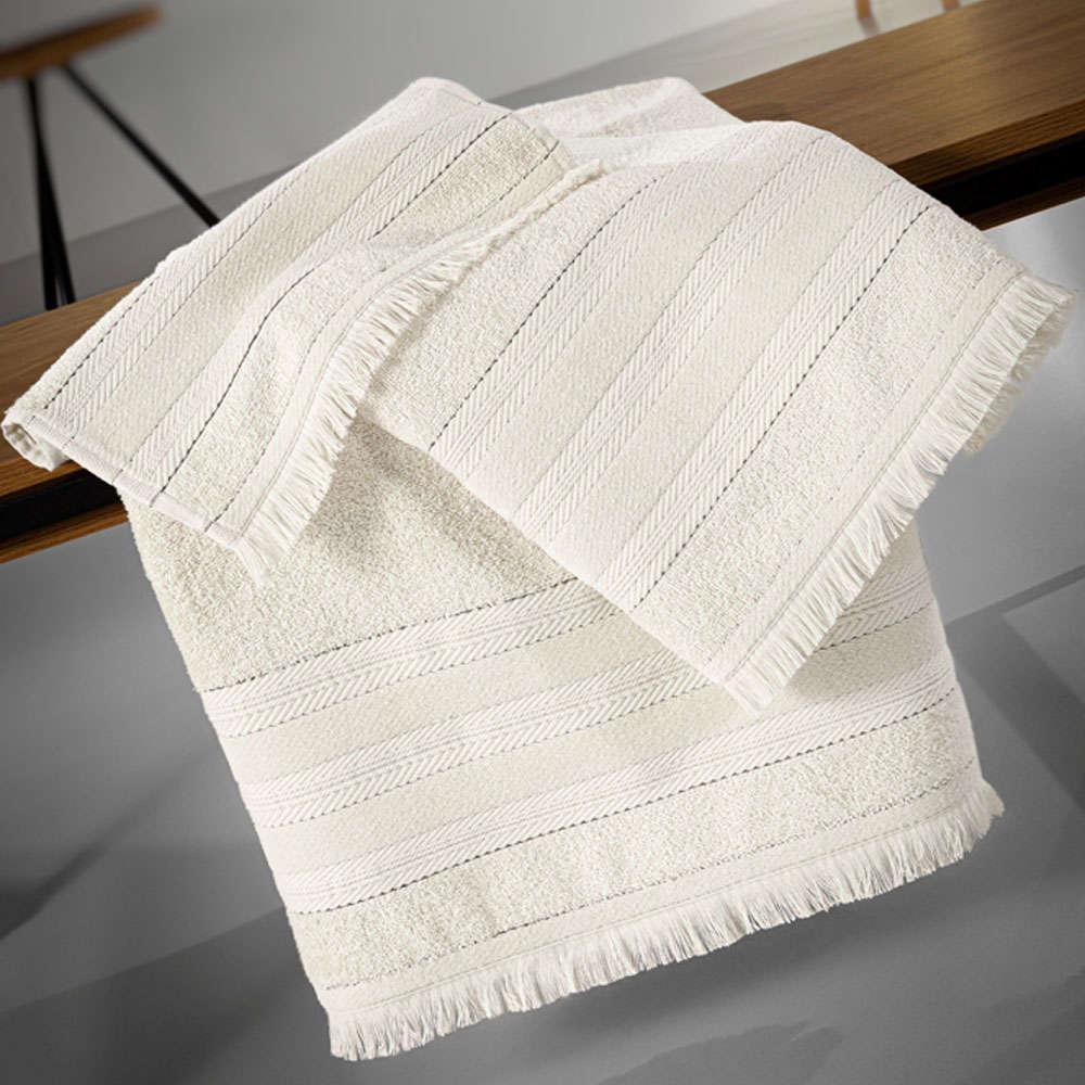 Πετσέτες Σετ 3τμχ Massimo White Guy Laroche Σετ Πετσέτες