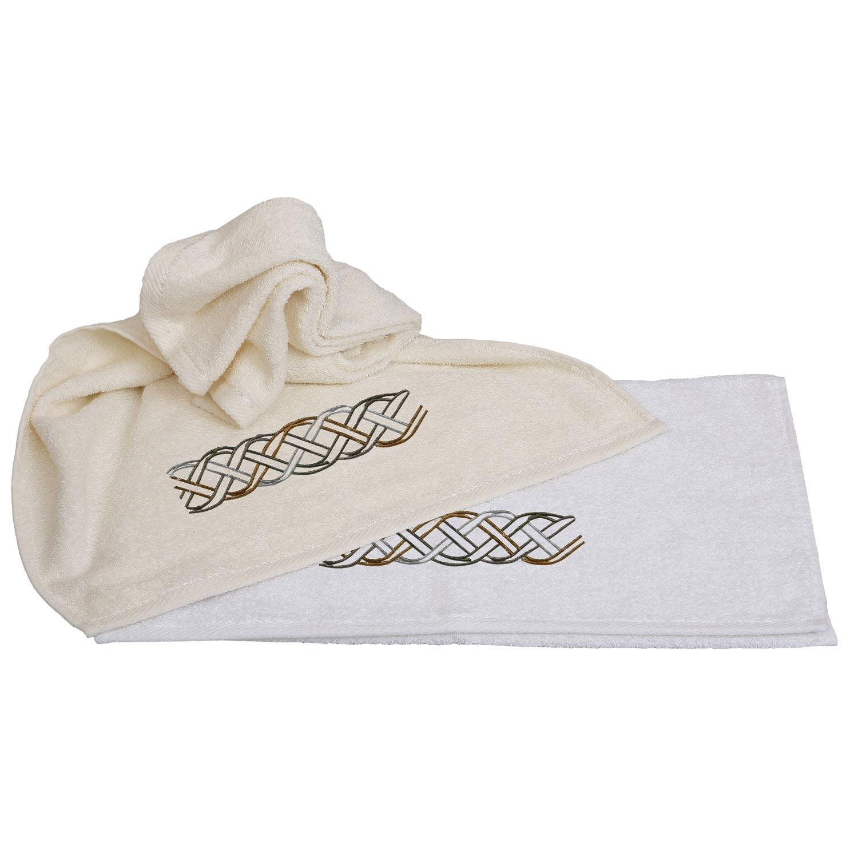 Πετσέτες Σετ 2τμχ. 27 Λευκό Viopros Σετ Πετσέτες
